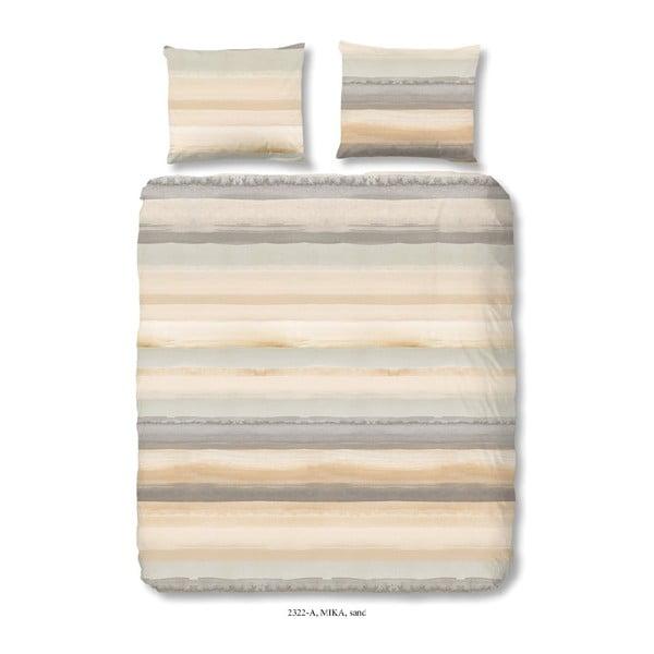 Bavlnené obliečky na jednolôžko Good Morning Sand, 140×200 cm