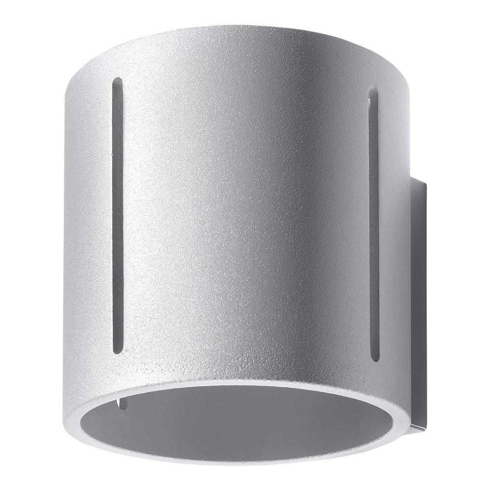 Sivé nástenné svietidlo Nice Lamps Vulco