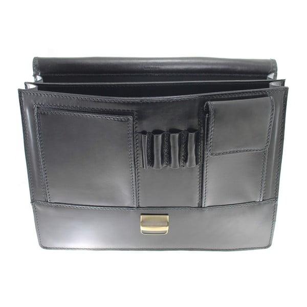 Čierna kožená taška Irene