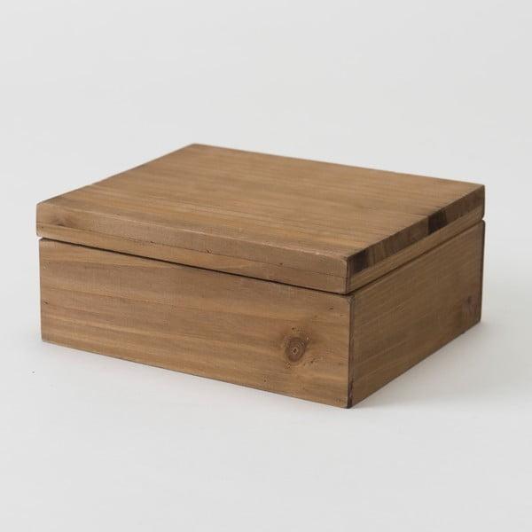 Úložný box z jedľového dreva Compactor Vintage, šírka 18,2 cm