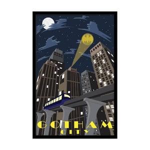 Plagát Gotham Night, 35x30 cm