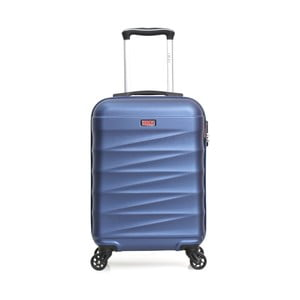 Modrý cestovný kufor na kolieskach Hero Wave