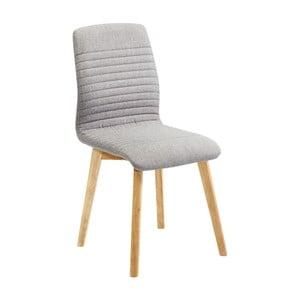 Sada 2 sivých jedálenských stoličiek Kare Design Lara