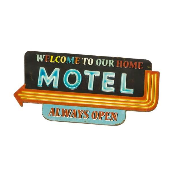 Nástenná ceduľa Novita Sign Motel, 58,5 x 30,5 cm