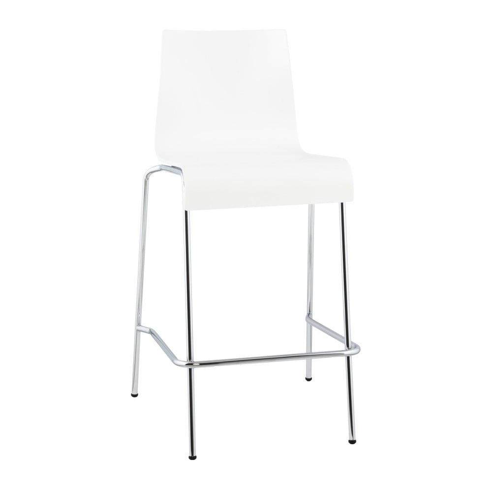 Biela barová stolička Kokoon Cobe, výška 65 cm