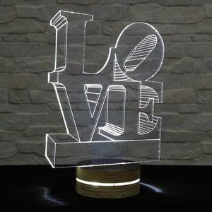 3D stolová lampa Love