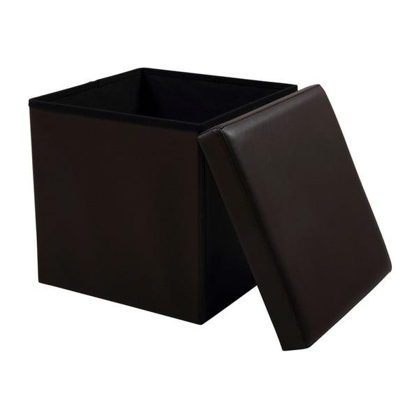 Hnedá taburetka s úložným priestorom Actona Sada