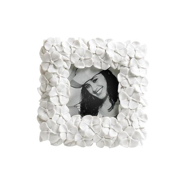 Fotorámček Flower White, 13x13 cm