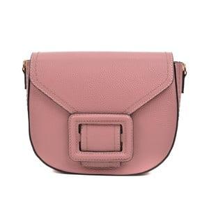 Ružová kožená kabelka Luisa Vannini Mussma