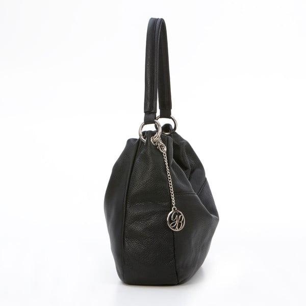 Kožená kabelka Alessandro, čierna