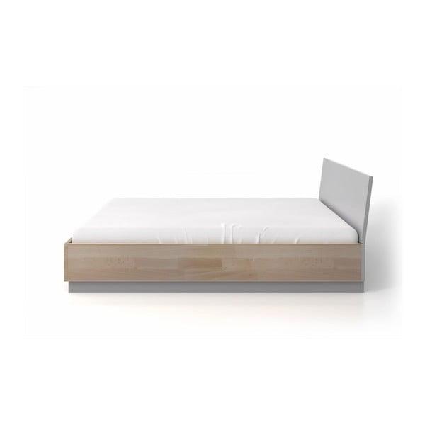 Dvojlôžková posteľ z bukového a borovicového dreva SKANDICA Finn, 160 x 200 cm