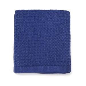 Modrá prikrývka cez posteľ z čistej bavlny Casa Di Bassi, 150 x 200 cm