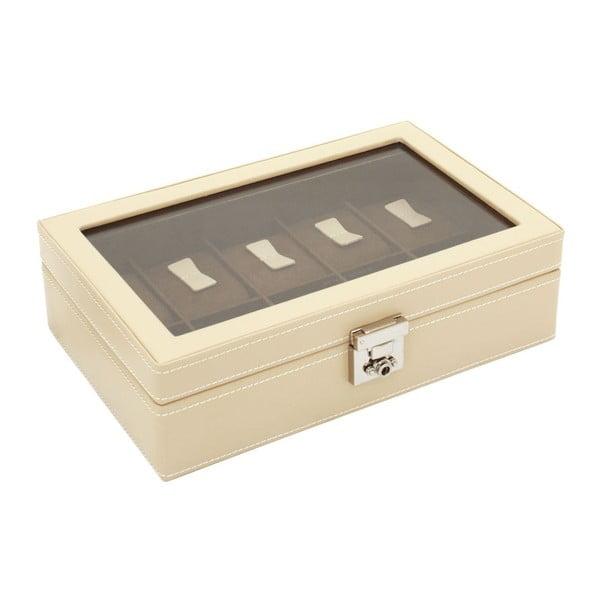 Béžový box na 10 hodiniek Friedrich Lederwaren Cordoba