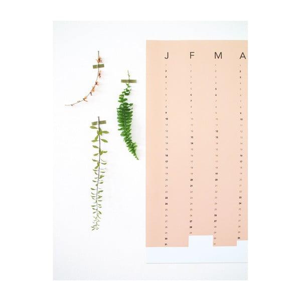 Nástenný kalendár SNUG.Column, terakotový