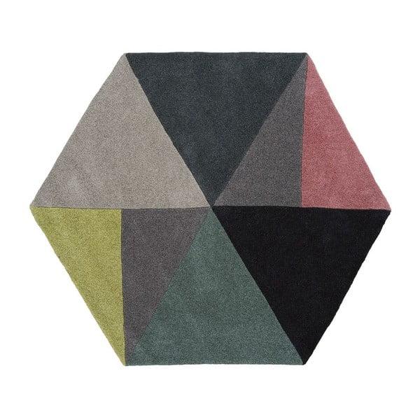 Vlnený koberec Sato Lime, 150x130 cm