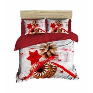 Vianočné obliečky na dvojlôžko s plachtou Giovanni, 160×220 cm