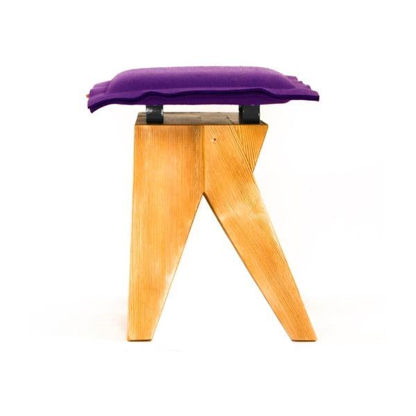 Drevená stolička Low, fialová