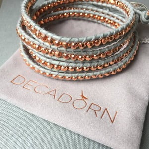 Náhrdelník Decadorn, medená/sivá