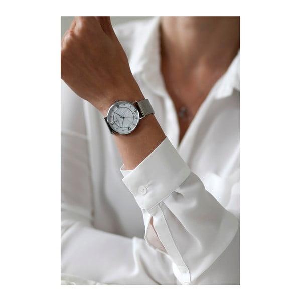 Dámske hodinky s remienkom z antikoro ocele v striebornej farbe Frederic Graff Silver Liskamm