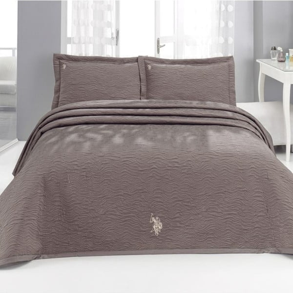 Sada prikrývky cez posteľ a 2 vankúšov U.S. Polo Assn. Dayton, 250x260 cm