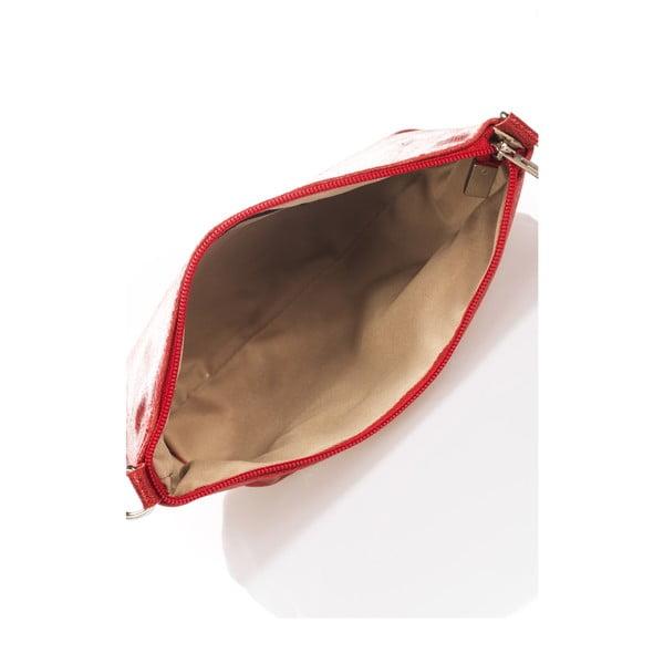 Kožená kabelka Minard, červená