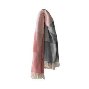 Ružovo-sivá deka Euromant Pisa, 140x180cm