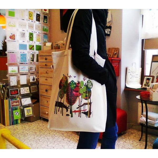 Plátenná taška Páv