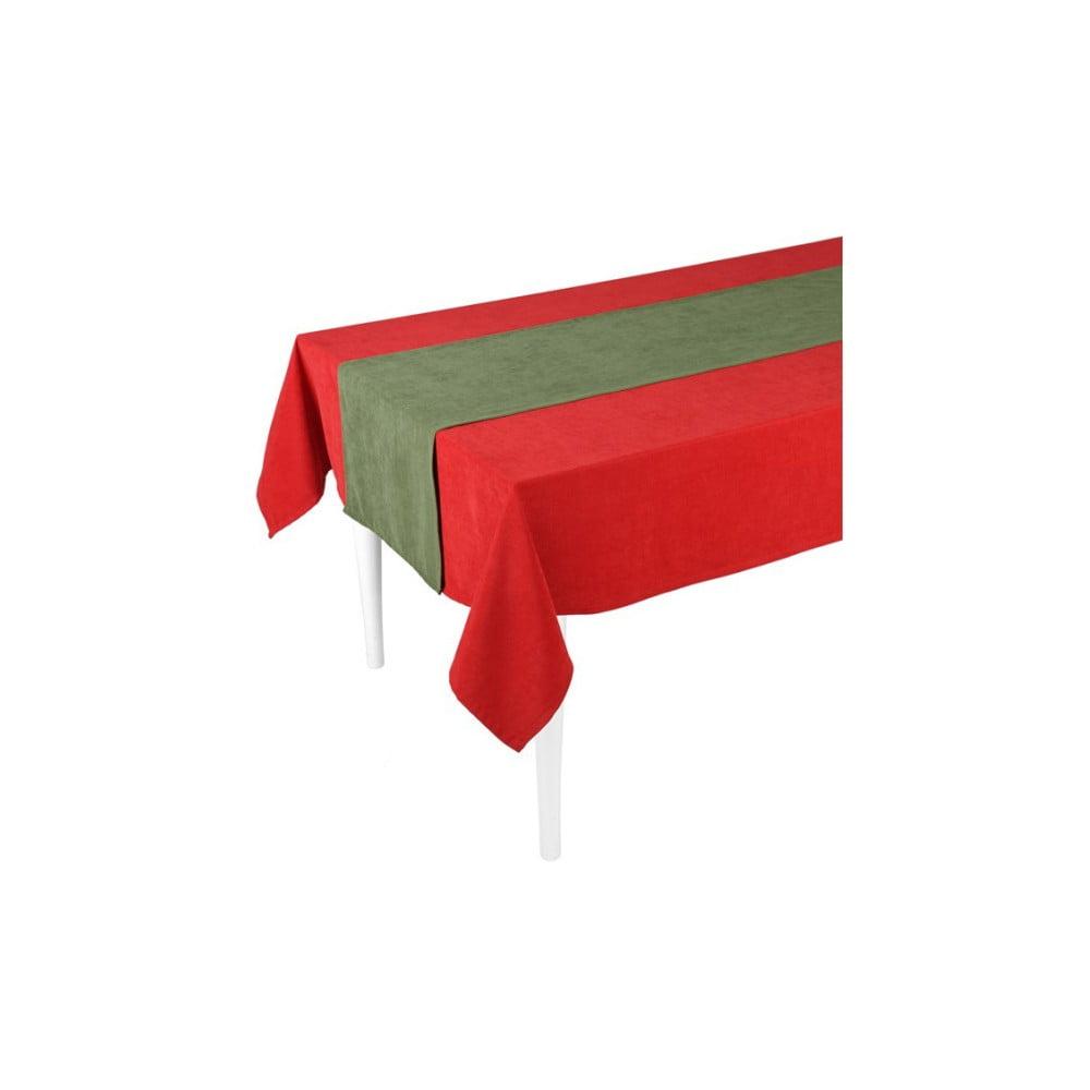 Zelený behúň na stôl Apolena Duskwood, 40 × 140 cm