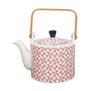 Ružová porcelánová čajová kanvica Tokyo Design studio, 0,8 l