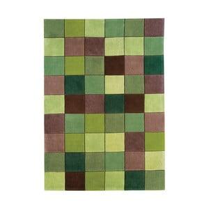 Koberec Asiatic Carpets Eden Pixel Green, 60x120 cm
