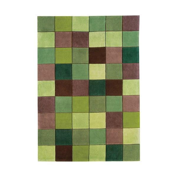 Koberec Asiatic Carpets Eden Pixel Green, 90x150 cm