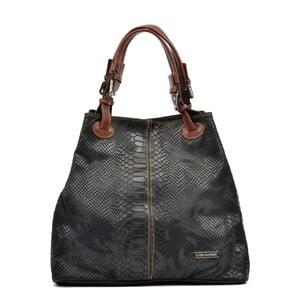 Čierna kožená kabelka Luisa Vannino Erika