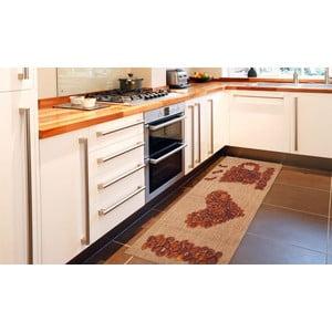 Vysokoodolný kuchynský koberec Love Coffee, 60x110 cm