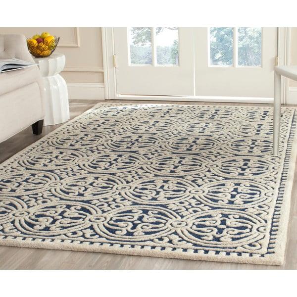 Vlnený koberec Marina Navy, 182x274 cm