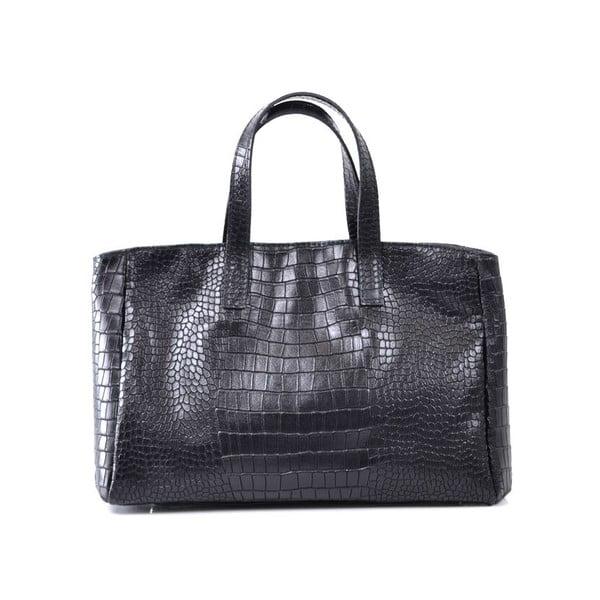 Kožená kabelka Johanne, čierna