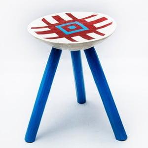 Ručne maľovaná stolička Lunca, 38 cm