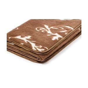 Hnedá deka z ťavej vlny Royal Dream Gothic, 140 x 200 cm