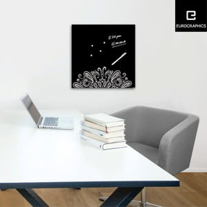 Magnetická tabuľa Eurographics Silver Ornament, 50 x 50 cm