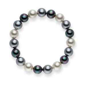 Perlový náramok Nova Pearls Copenhagen Brigitte Dark