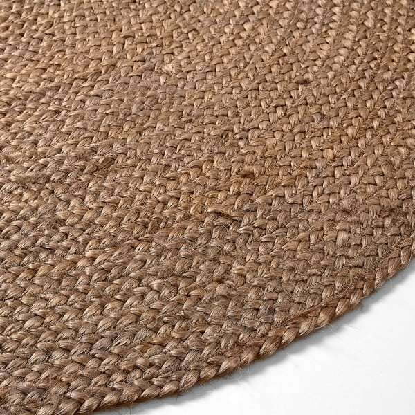 Jutový koberec Dip Ø100 cm, hnedý