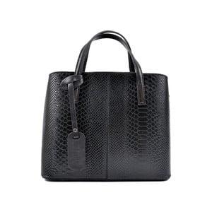Čierna kožená kabelka Roberta M Murielle