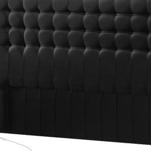 Čierne čelo postele Novative Sylphyde, 140×118cm