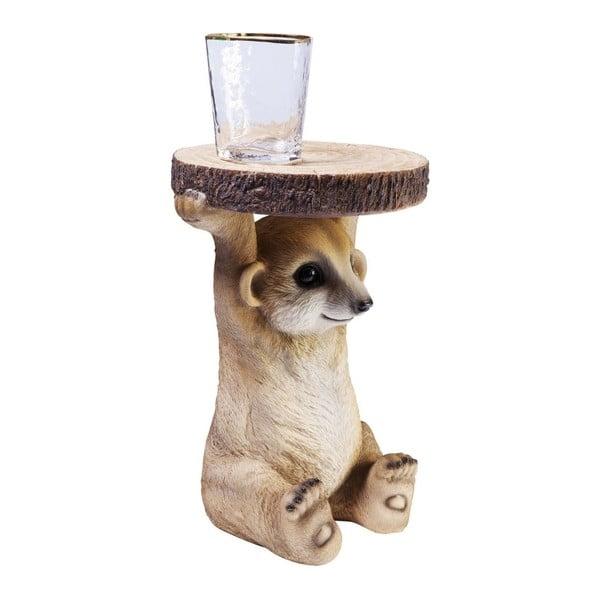 Odkladací stolík v tvare zvieraťa Kare Design Mongoose, Ø 35cm