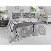 Ľahký bavlnený pléd cez posteľ na dvojlôžko Belezza Grey, 200 x 230 cm