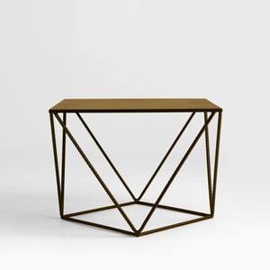 Odkladací stolík v zlatej farbe Custom Form Daryl, 55 × 55 cm