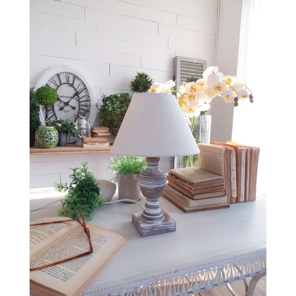 Stolná lampa Natural White, 22x33 cm