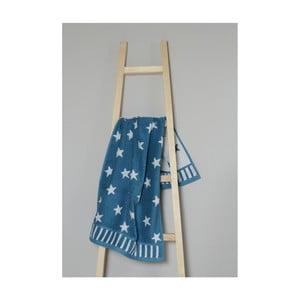 Tyrkysový bavlnený uterák My Home Plus Stars, 50×90 cm