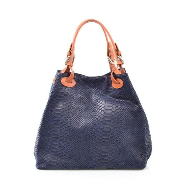 Kožená kabelka Ingrid, modrá