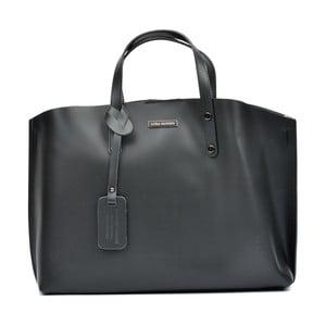 Čierna kožená kabelka Luisa Vannini Teresa