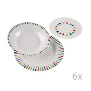 Set 18-dielneho porcelánového riadu Versa Vajilla Geometrica